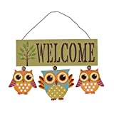 YK Decor Wooden Owl Welcome Door Sign Decorative Hanging for Front Home 6.8X 8.8 x 0.25 inches (Green) Amazon deals