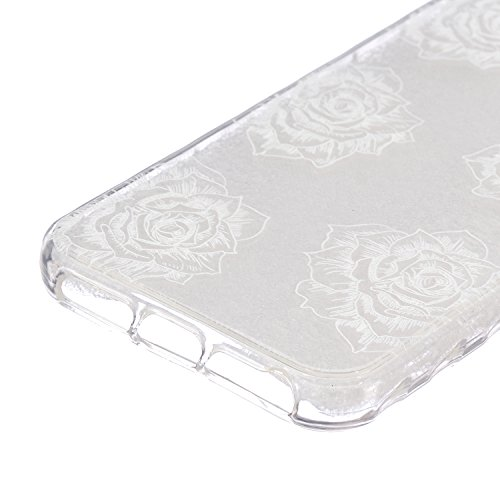 iPhone 5C Coque Silicone,iPhone 5C Coque Transparente,Coque Housse pour iPhone 5C,iPhone 5C Souple Coque Etui en Silicone,EMAXELERS iPhone 5C Coque Silicone Etui Housse,iPhone 5C Coque blanc Fleur Mod B Animal TPU 12