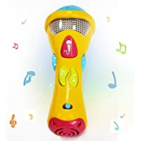 WISHTIME Karaoke-Mikrofon für Kinder, Musik-Spielzeug (Aufnahme, Transform Akustik, Lieder und Beleuchtung) Erstes elektronisches Karaoke-Musik-Mikrofon für Chirldren