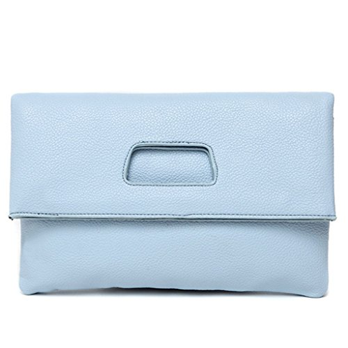 versione coreana della borsa del messaggero della spalla del pacchetto semplice pieghevole mano di nuovo modo di estate di grande capacità borse frizione ( Colore : Cielo blu ) Cielo blu