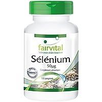 Sélénium 50µg provenant de levure de sélénium organique 25mg - 100 comprimés - lie les métaux lourds