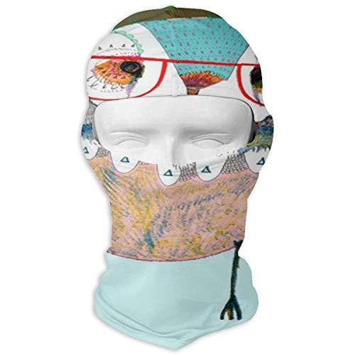 Vidmkeo Balaclava Owl with Glasses Full Face Masks Motorcycle Neck Hood Multicolor2