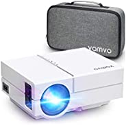 Vamvo Proyector Full HD 1080P 5500 Lux, Mini Proyector Portátil L4500 con Dolby, 50000 Horas Vida, Proyector C