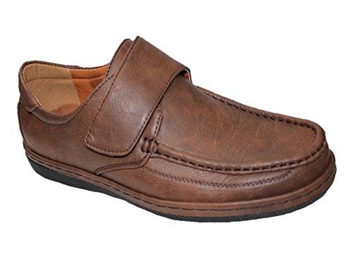 Foster Footwear , Herren Mokkasins Velcro: Brown