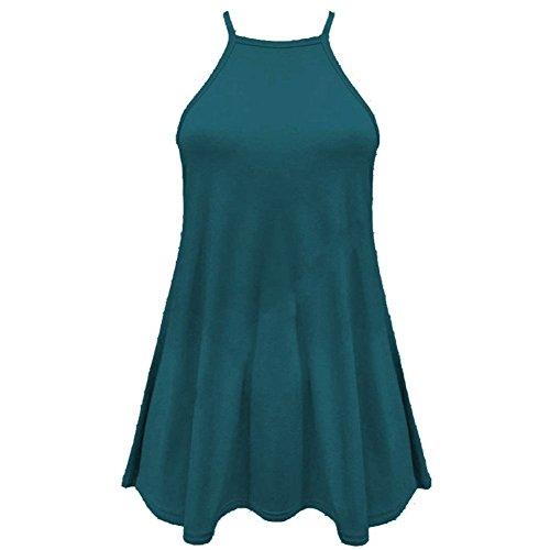 Janisramone - Débardeur - Uni - Sans Manche - Femme * taille unique bleu sarcelle