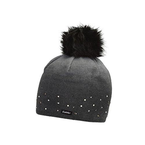 ce75559da04 Eisbär Damen Dip Dye Lux Crystal Mütze graumele Bedruckt mit schwarz