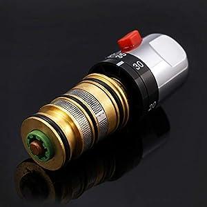 Solepearl Grifo mezclador termostático para baño y ducha con mango de válvula de repuesto para reparación de cartucho…