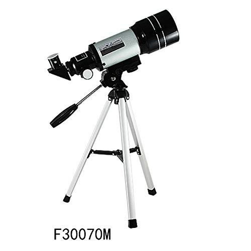 Telescopio astronómico de Alta resolución con visión Nocturna F30070 es Adecuado para niños y Principiantes para Ver la Luna y los Buenos Socios de la Tierra