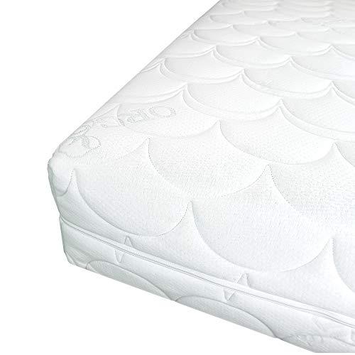 Hochwertiger Organic-Cotton Matratzenbezug 120x200cm mit Reißverschluss - 16 cm Kernhöhe - Allergiker geeignet - 60 Grad waschbar - 4-seitiger Reißverschluss - 120x200 - 2-seitig Matratze