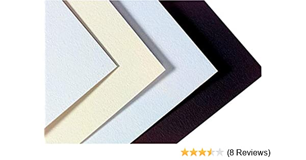 Medium Weight 32 x 40 Size 14-Ply Thickness White//Cream Crescent 405162 Smooth Surfaced Mat Board