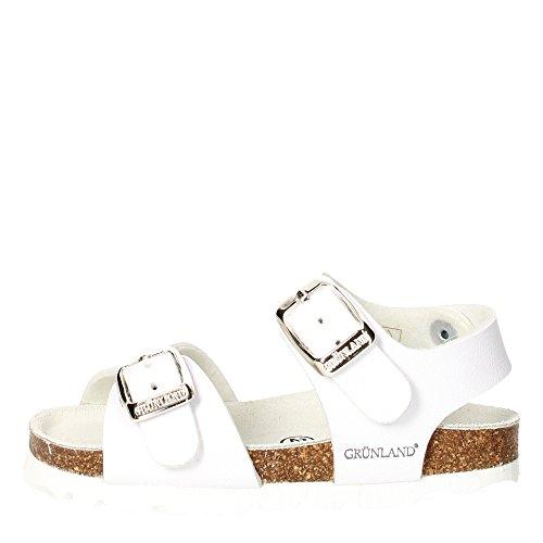 GRUNLAND - Sandalo bianco con chiusura con fibbia, Unisex Bambino, bambina-22