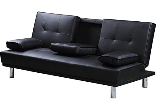 Divano Nero Moderno : Vibrant globe moderno letto divano a posti in similpelle nero