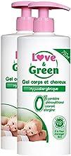 Amor y verde Gel Cuerpo / Cabello 750ml hipoalergénico - Juego de 2