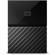 WD My Passport 4TB - Disco duro portátil y software de copia de seguridad automática para PC, Xbox One y PlayStation 4 - negro