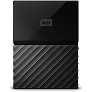 WD My Passport  - Disco duro portátil de 4 TB y software de copia de seguridad automática, color negro