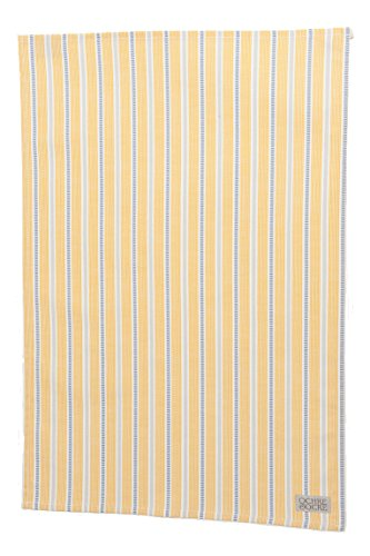 Ledbury 70cm Organic Cotton Tea Towel Colour: Ochre and Grey