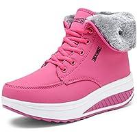 DANDANJIE Zapatos De Las Mujeres De Invierno Botas Atléticas Zapatos para Caminar Cuña Talón Redondo Pies