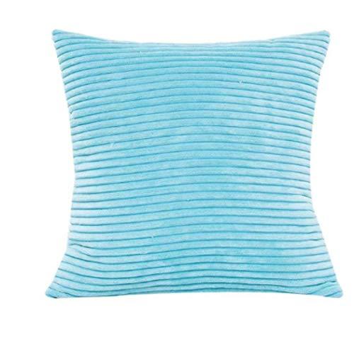 fdsafd Neue Plüsch Kissenbezug Soft Fur Liner Covercorn Bar Platz Taille Dekokissen Abdeckung Geschenk Drop Pad (blau) -