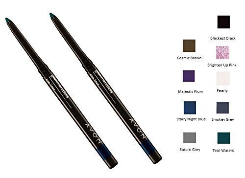 2-x-avon-glimmerstick-eyeliner-twin-pack-two-the-same-cosmic-brown