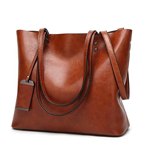 HGHGWomen Umhängetasche Weibliche Pu-Leder Handtasche Frauen Taschen Designer Hohe Qualität Aushöhlen Große Kapazität Einkaufstasche Hellbraun 32 * 29 cm -