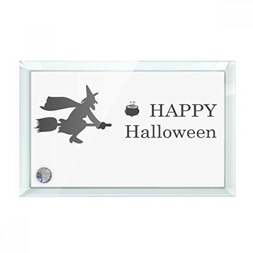 ücklicher Geist Angst Halloween Desktop-Kristall-Kunst-Malerei Glas-Grafik Dekoration 7X5 7