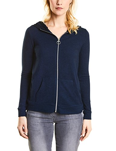 CECIL Damen Strickjacke 252661 Esther, Blau (Deep Blue Melange 10157), Large