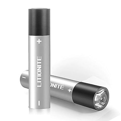 Litionite® Blaze 3400mAh Power Bank Mini Batterie Externe Portable Poche en Aluminium De Secours - 3 en 1 Chargeur USB + Torche LED + Mousqueton Porte-clés pour tous les modèles Smartphone et Tablet (Silver)