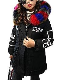 LeeHaru Magike Manteau Bébé Fille Enfants Automne Hiver Manteau Doudoune  avec Fourrure Fausse Vêtements Chauds d 28bae03cb4d