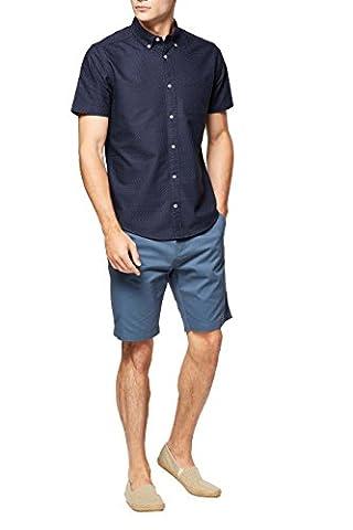 next Herren Kurzaermeliges Oxford-Hemd mit Tupfenmuster Regular XXXL Marineblau