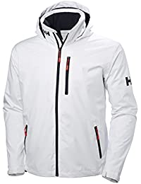 Helly Hansen Crew Hooded Midlayer Jacket Chaqueta Impermeable, Hombre, Blanco (White), XL