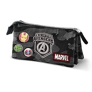 Karactermania Avengers Defend-astuccio Portatutto Triplo HS Estuches 24 Centimeters Multicolor (Multicolour)