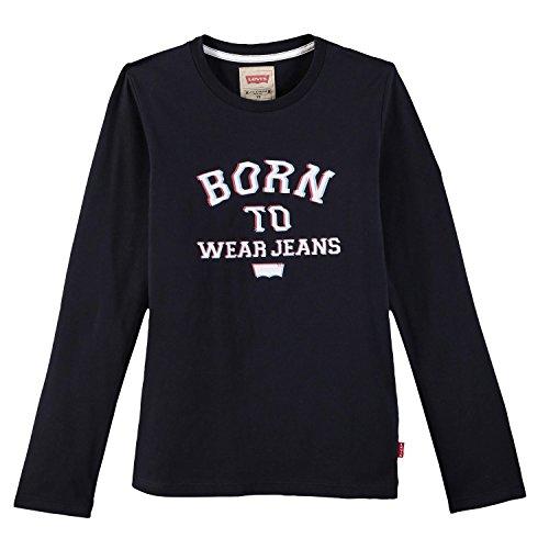 Levi's ls tee fabio, t-shirt bambino, nero (black 02), 12 anni (taglia produttore: 12a)