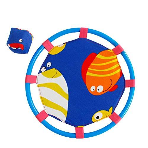 Toyvian Catch Ball Paddle Game Set Jeu d'aspiration avec Ballon Jouet Interaction Parent-Enfant Sucker Ball (Poisson Bleu)