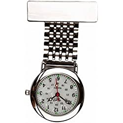 Censi Traditional Silver Fob Watch White Mother of Pearl Dial Nurse Doctor Paramedic Unisex Men Woman