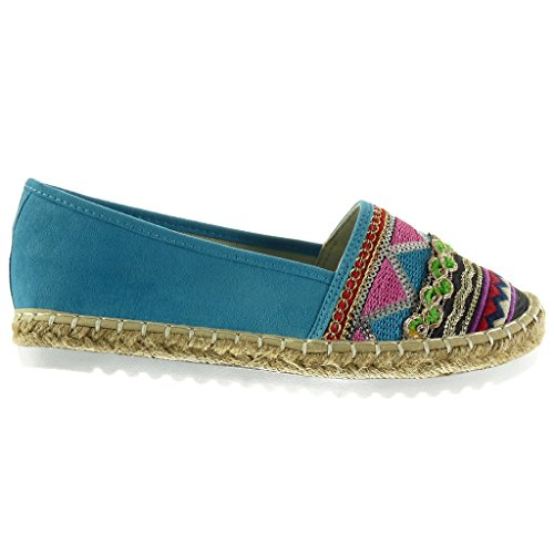 2e7c788df5e4e Angkorly Damen Schuhe Espadrilles Mokassin Slipon Sneaker Sohle ...