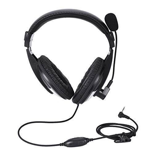 Iycorish Hochleistung überkopf-Headset Für Radio 1-Pin 2.5Mm Mit Boom Mikrofon T5000-serie Radios
