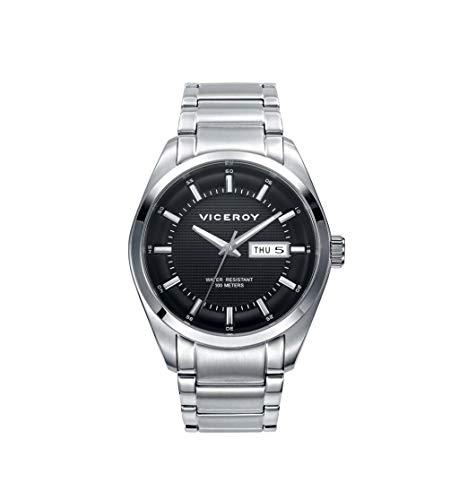 Viceroy 471003–57Homme Quartz Acier Montre bracelet cadran noir taille 40mm