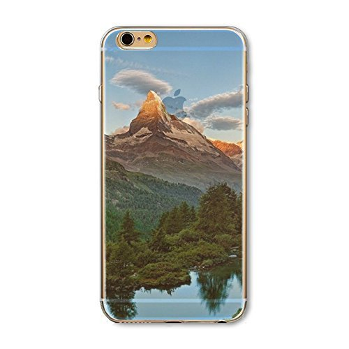 Coque iPhone 7 Housse étui-Case Transparent Liquid Crystal en TPU Silicone Clair,Protection Ultra Mince Premium,Coque Prime pour iPhone 7-Paysage-style 7 4