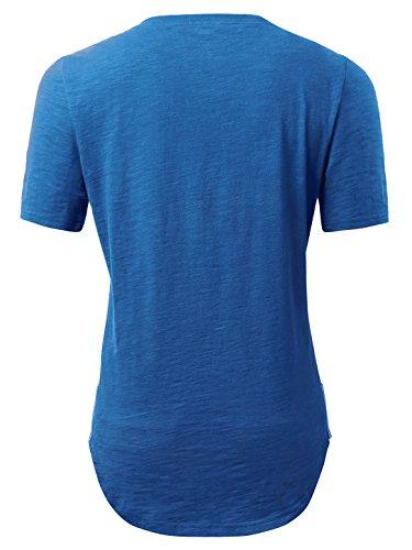 KAIUSI Herren Basic kurzarm T-Shirts mit Rundhals Blau-2