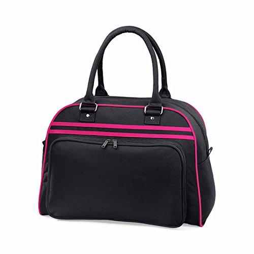 Sporttasche 'Retro Bowling Bag' - Farbe: Black/Fuchsia