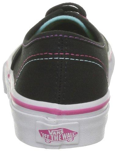 Vans T Authentic, Baskets mode mixte bébé Noir (Multi Pop Bla)