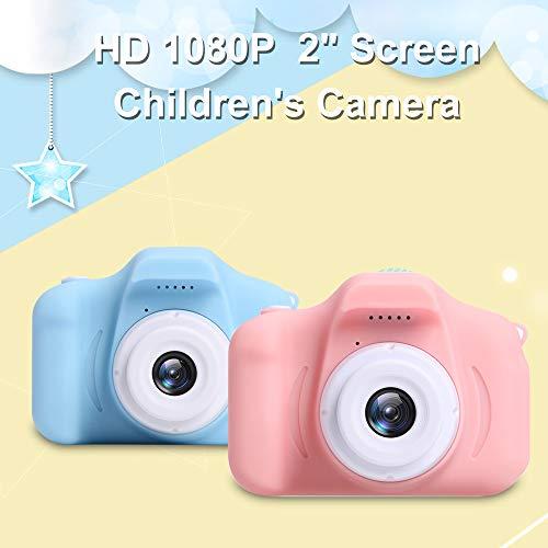 OWSOO 1080P Cámara para Niños con Pantalla de 2 Pulgadas,  Grabación de Video,  Toma de Fotos,  Soporta Máximo de Tarjeta TF de 32GB (No Incluida),  Niños,  Azul