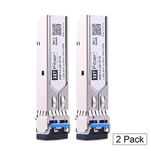 Gigabit SFP Singlemode Modul, 1000Base-LX LC Transceiver, Dual LC Port (10km, 1310nm), Compatible for Cisco GLC-LH-SMD, Ubiquiti, Netgear, TP-Link, D-Link, Mikrotik and Other Open Switches, 2 Pack Balun-hub