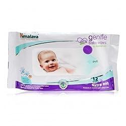 Himalaya Herbals Babycare Gentle Baby Wipes (12 Wipes) (Pack of 3)