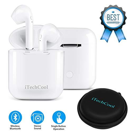 Bluetooth-Kopfhörer Drahtlose Ohrhörer Mini-Größe Im Ohr mit Mikrofon und Ladestation, Drahtlose Headsets Kompatibel mit iPhone Android-Handys(12 Stunden Spielzeit, HD-Stereoton, Rauschunterdrückung) thumbnail
