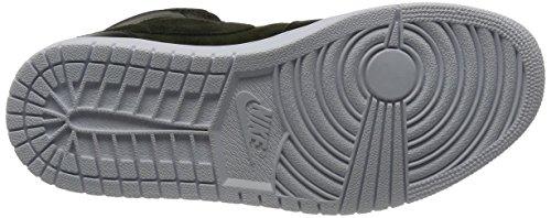Nike Air Jordan 1 Mid Sneaker Turnschuhe Basketballschuhe Schuhe für Herren SEQUOIA/MAX ORANGE-WHITE