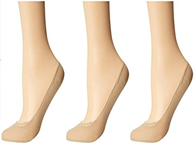 Nxt 2 Skin - Women's Cotton Hidden Loafer Socks, Ladies Invisible No Show Liners - Pack of 3