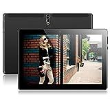Tablet 10 Zoll Android 7.0 mit Dual Simkarten Slot PADGENE 1280x800 Quad Core CPU 2G RAM 32G Speicher Google Tablet PC Hochwertiges Metallgehäuse Dual Kamera WiFi/3G GPS Telefonfunktion(Schwarz)