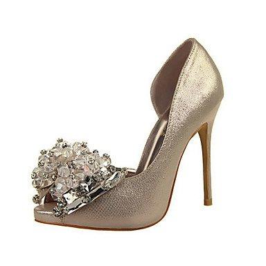 Moda Donna Sandali Sexy donna tacchi PU Casual Stiletto Heel scintillanti di Glitter Nero / Rosso / Bianco / argento / Oro / Fucsia Altri Black