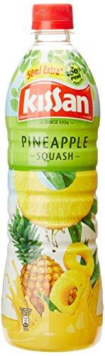 Kissan Pineapple Squash Bottle, 750 Ml